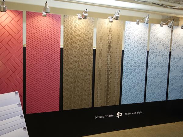 デザインパネル壁面装飾_展示会でのジャパニーズ(和柄)シリーズです